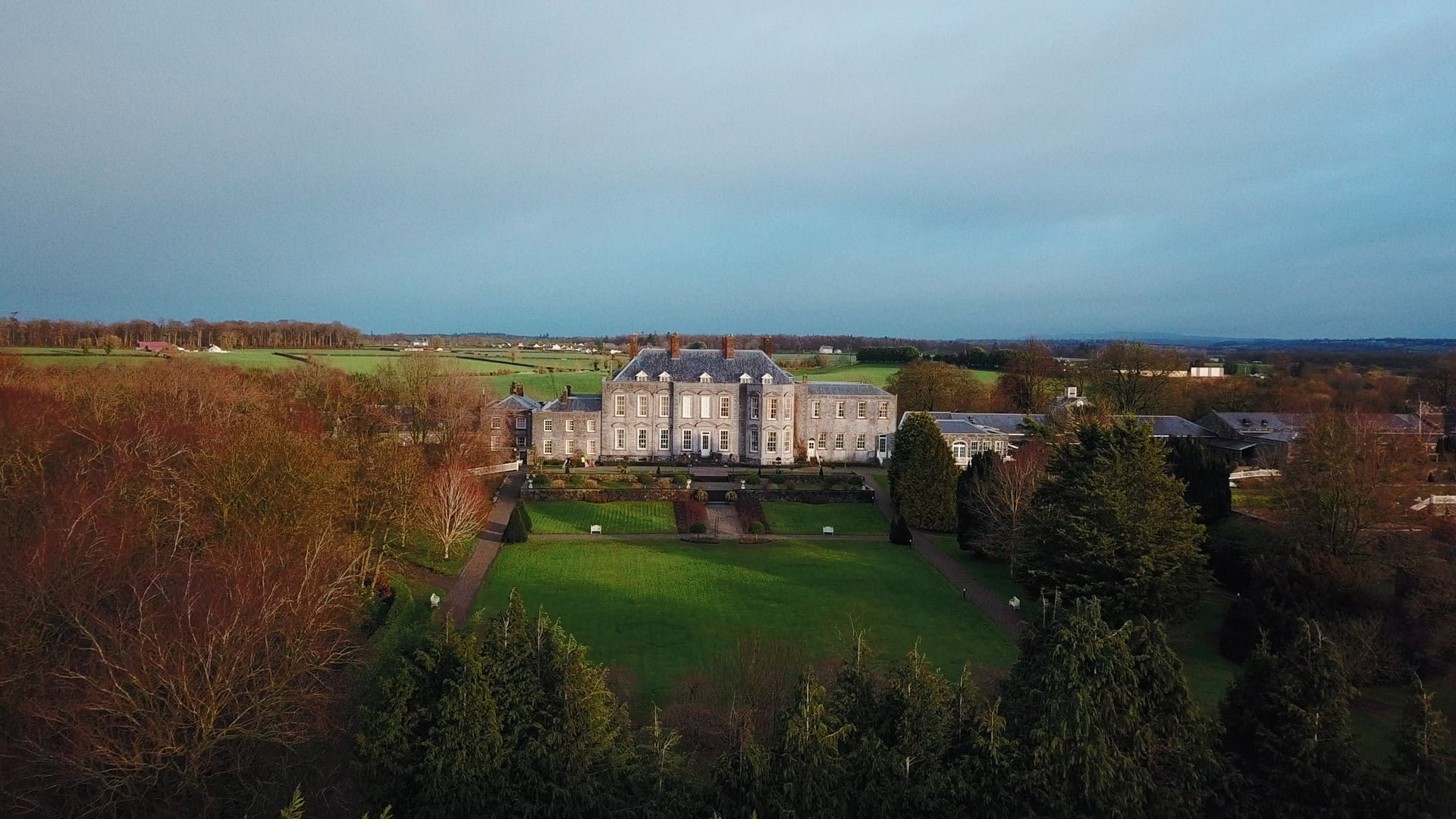 castle-durrow-wedding-drone